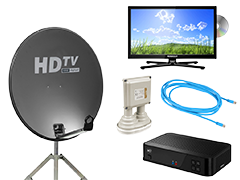 TV, Satélite e Internet