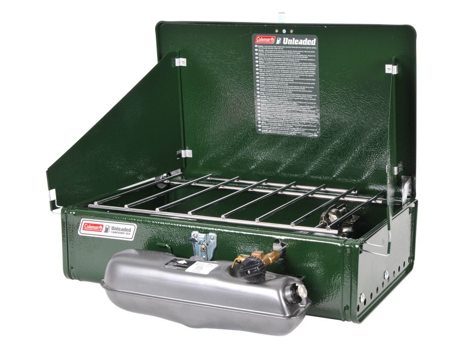 Coleman Unleaded two-burner 424 hornillo