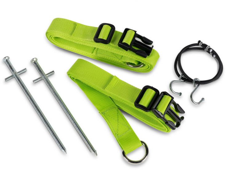 Kampa Storm Tie Down Kit Green cinchas antitormenta