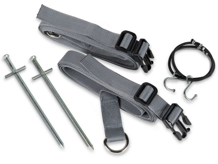 Kampa Storm Tie Down Kit Grey cinchas antitormenta